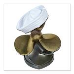 Sailor Hat and Propeller Square Car Magnet 3