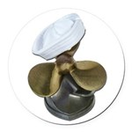 Sailor Hat and Propeller Round Car Magnet
