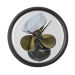 Sailor Hat and Propeller Large Wall Clock