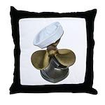 Sailor Hat and Propeller Throw Pillow