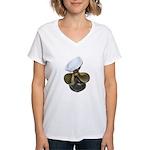 Sailor Hat and Propeller Women's V-Neck T-Shirt