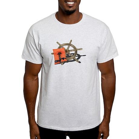 Life Preserver Ship Wheel Light T-Shirt