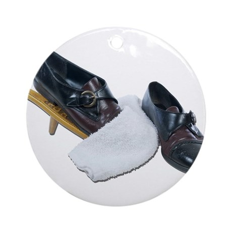 Shoe Shine and Wedge Ornament (Round)