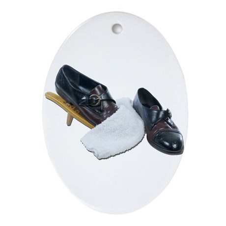 Shoe Shine and Wedge Ornament (Oval)