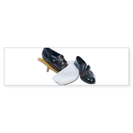 Shoe Shine and Wedge Sticker (Bumper)