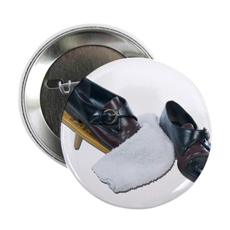 """Shoe Shine and Wedge 2.25"""" Button"""