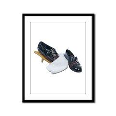 Shoe Shine and Wedge Framed Panel Print