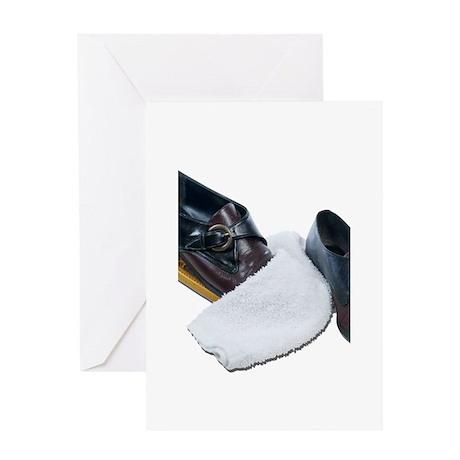 Shoe Shine and Wedge Greeting Card