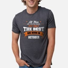 The Best Are Born In October Mens Tri-blend T-Shir