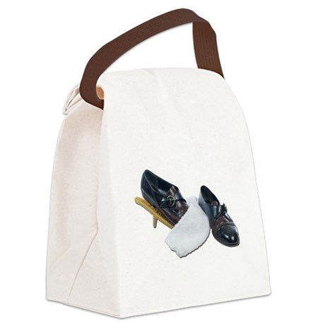 Shoe Shine and Wedge Canvas Lunch Bag