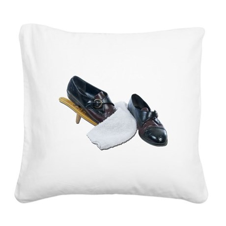 Shoe Shine and Wedge Square Canvas Pillow