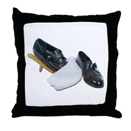 Shoe Shine and Wedge Throw Pillow