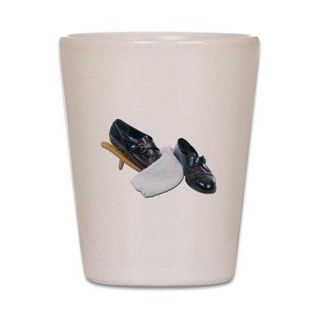 Shoe Shine and Wedge Shot Glass
