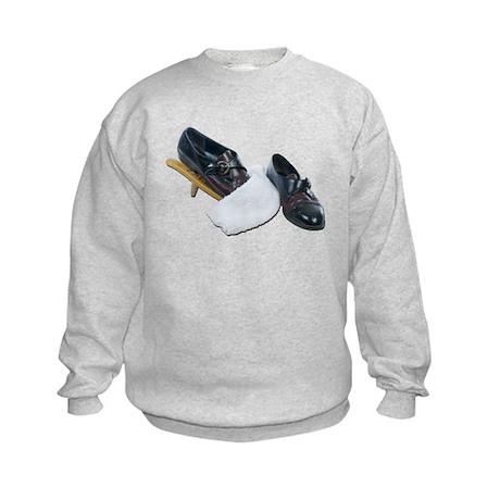Shoe Shine and Wedge Kids Sweatshirt