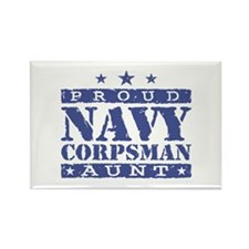 Navy Corpsman Aunt Rectangle Magnet
