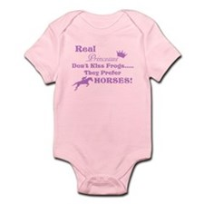 Real Princesses Don't Kiss Frogs Infant Bodysuit