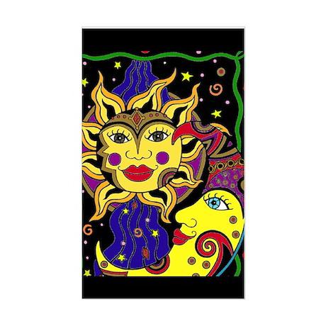 Celestial Flow Rectangle Sticker