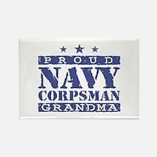 Navy Corpsman Grandma Rectangle Magnet