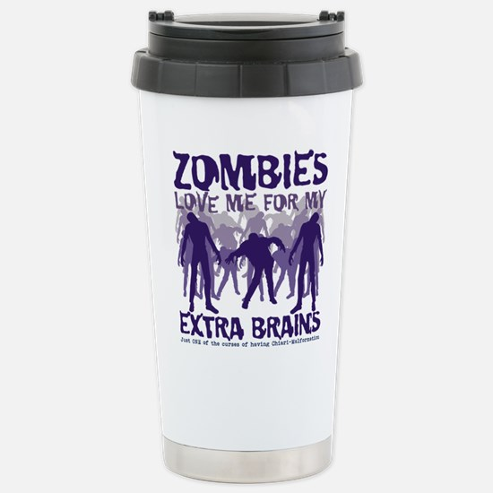 Zombies Love Me Stainless Steel Travel Mug