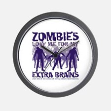 Zombies Love Me Wall Clock