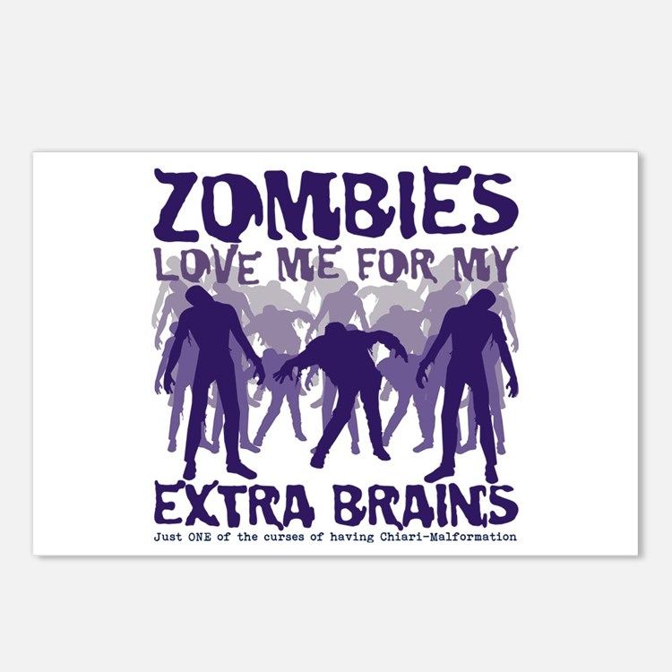 Zombies Love Me Postcards (Package of 8)