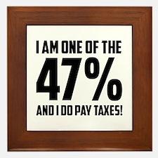 I Am One Of The 47 Percent Framed Tile