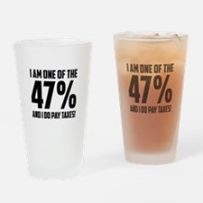 I Am One Of The 47 Percent Drinking Glass