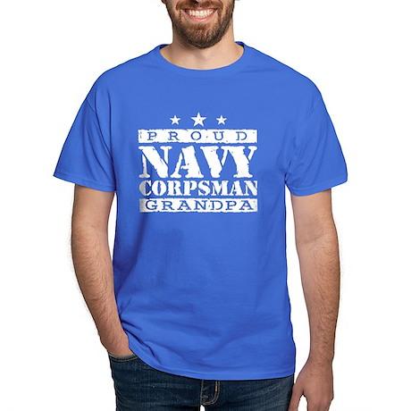 Navy Corpsman Grandpa Dark T-Shirt