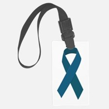 Teal Ribbon Luggage Tag