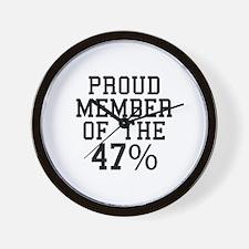 Proud Member Of The 47 Percent Wall Clock