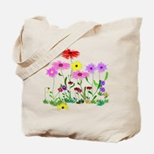 Flower Bunches Tote Bag
