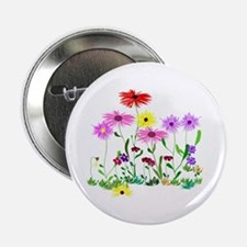 "Flower Bunches 2.25"" Button"