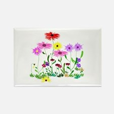 Flower Bunch Rectangle Magnet