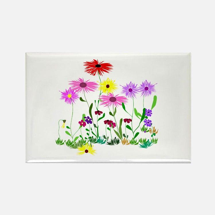 Flower Bunch Rectangle Magnet