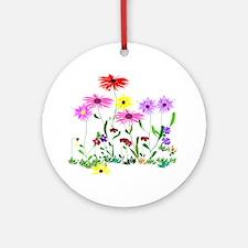 Flower Bunch Round Ornament