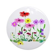 Flower Bunches Ornament (Round)