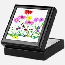Flower Bunches Keepsake Box