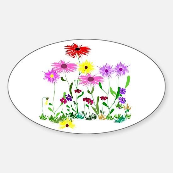 Flower Bunch Sticker (Oval)