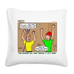 Climbing Square Canvas Pillow