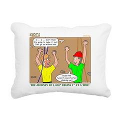Climbing Rectangular Canvas Pillow