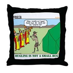 Bugling Throw Pillow