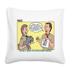 Moon Rover Square Canvas Pillow
