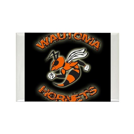 Wautoma Hornets Rectangle Magnet