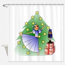 Clara and Nutcracker Shower Curtain