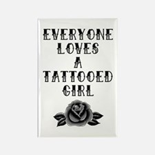 Tattooed Girl Rectangle Magnet