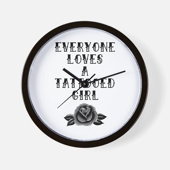 Tattooed Girl Wall Clock