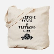 Tattooed Girl Tote Bag