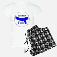 Custom Martial Arts Blue Belt Pajamas