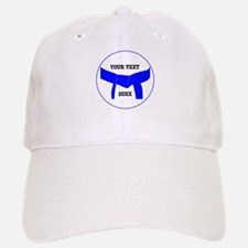 Custom Martial Arts Blue Belt Baseball Baseball Cap