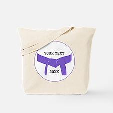 Custom Martial Arts Purple Belt Tote Bag